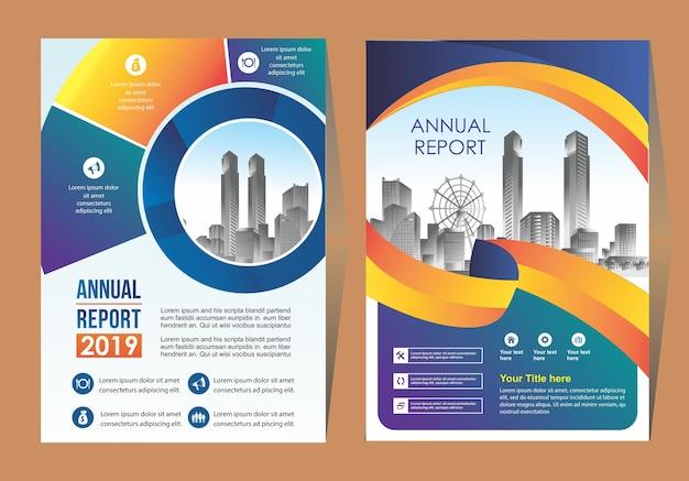 Modèle de conception d'arrière-plan de brochure de couverture d'entreprise