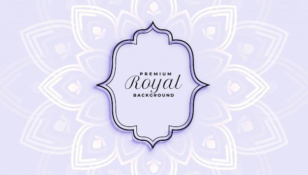 Modèle de conception d'arrière-plan décoratif de style royal eithnic