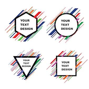 Modèle de conception d'art moderne pour le texte