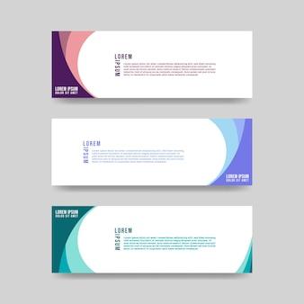 Modèle de conception de bannière abstraite de vecteur premium vecto