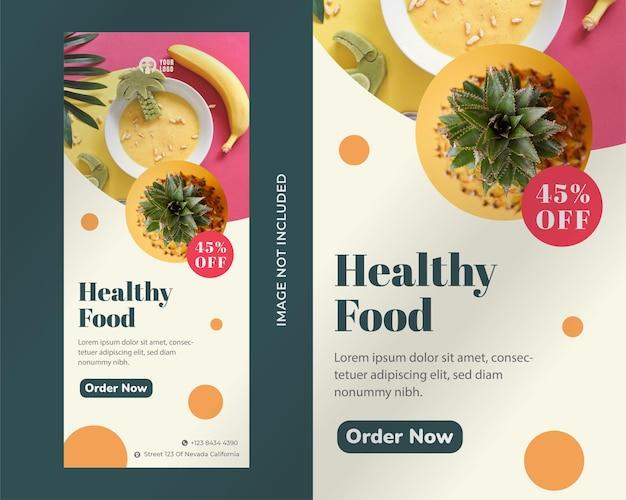 Modèle de conception de bannière alimentaire roll up