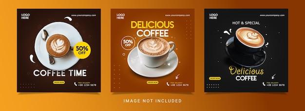 Modèle de conception de bannière de café