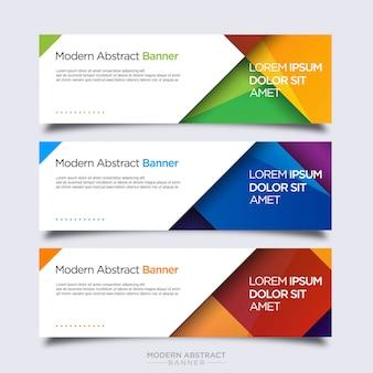 Modèle de conception de bannière colorée abstraite