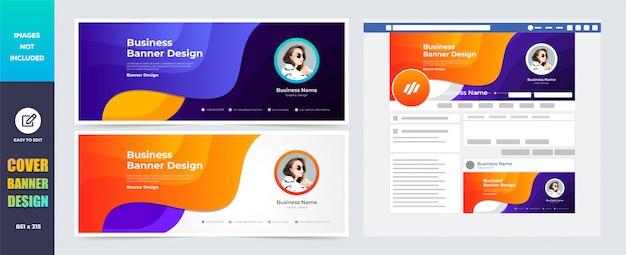 Modèle de conception de bannière de couverture de médias sociaux