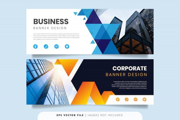 Modèle de conception de bannière d'entreprise géométrique
