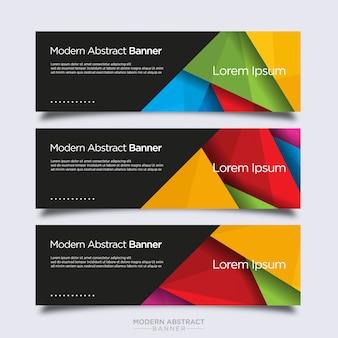 Modèle de conception de bannière de forme de diamant abstraite moderne