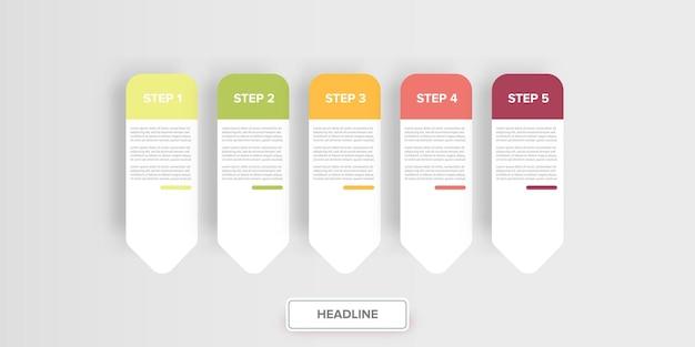 Modèle de conception de bannière infographique de style papier moderne