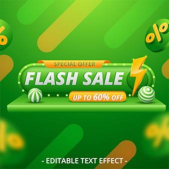 Modèle de conception de bannière lumineuse de vente flash