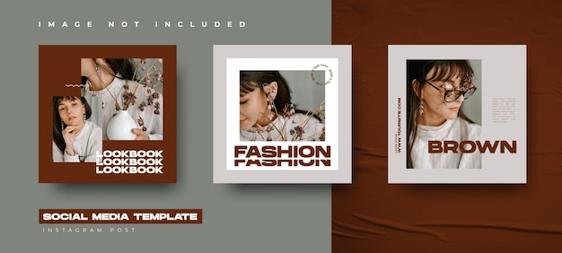 Modèle de conception de bannière de mode avec un style abstrait pour vos médias sociaux et votre publication instagram