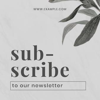Modèle de conception de bannière de newsletter d'abonnement d'entreprise