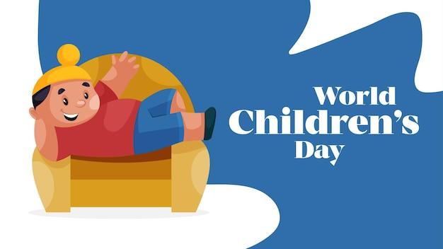 Modèle de conception de bannière pour la journée mondiale des enfants