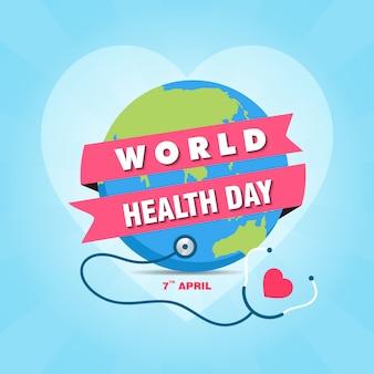 Modèle de conception de bannière pour la journée mondiale de la santé