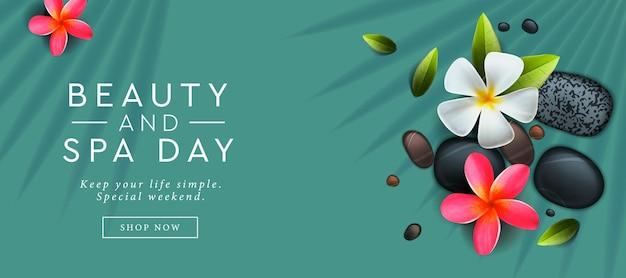 Modèle de conception de bannière publicitaire pour la beauté et le spa