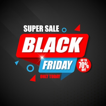 Modèle de conception de bannière super vente black friday