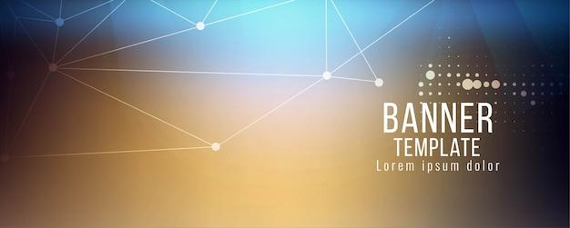 Modèle de conception de bannière de technologie abstraite