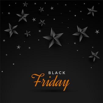 Modèle de conception bannière vendredi noir étoiles sombres