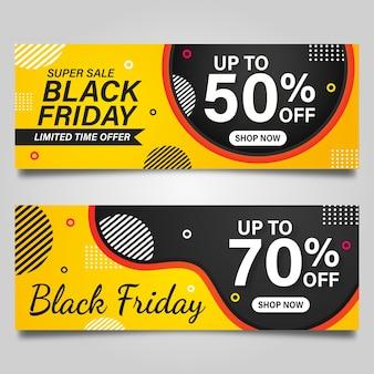 Modèle de conception de bannière vendredi noir.
