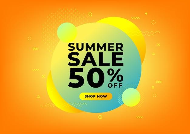 Modèle de conception de bannière de vente d'été.