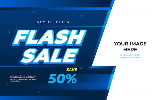 Modèle de conception de bannière de vente flash