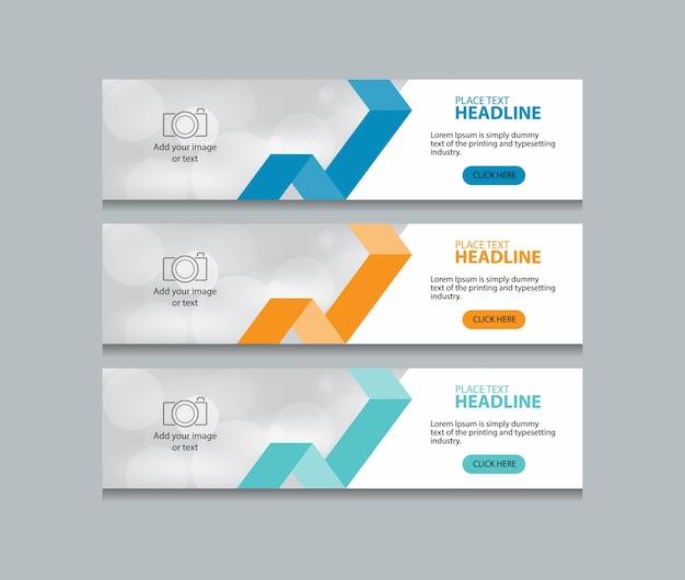 Modèle de conception de bannière web abstraite