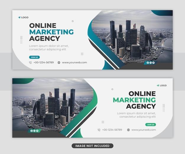 Modèle de conception de bannière web de couverture de facebook de médias sociaux de marketing numérique