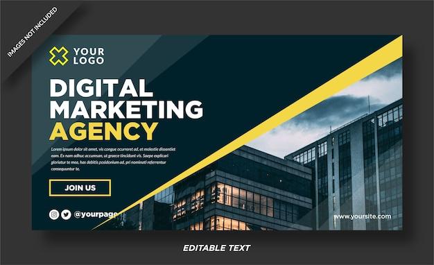 Modèle de conception de bannière web marketing numérique