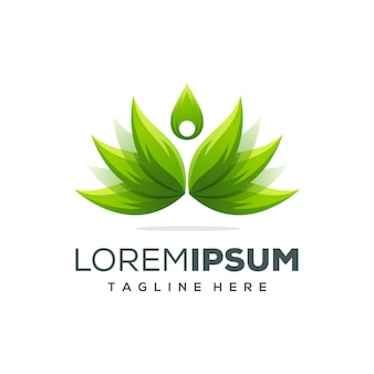 Modèle de conception de beau yoga lotus logo