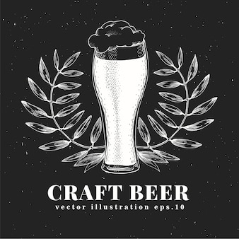 Modèle de conception de bière de vecteur.