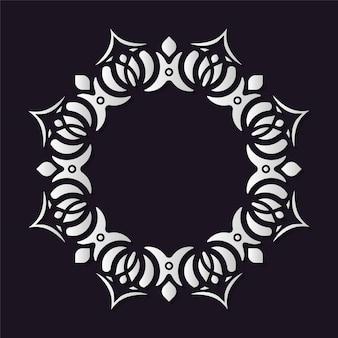 Modèle de conception de bordure de motif de cercle ornemental