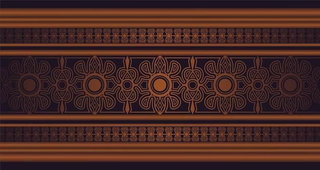 Modèle de conception de bordure de motif ornemental