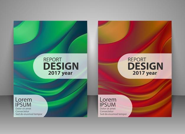 Modèle de conception de brochure abstrait holographique