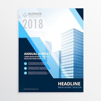 Modèle de conception de brochure commerciale créative bleu en taille a4