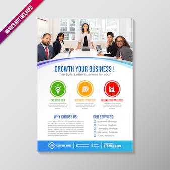 Modèle de conception de brochure de création d'entreprise