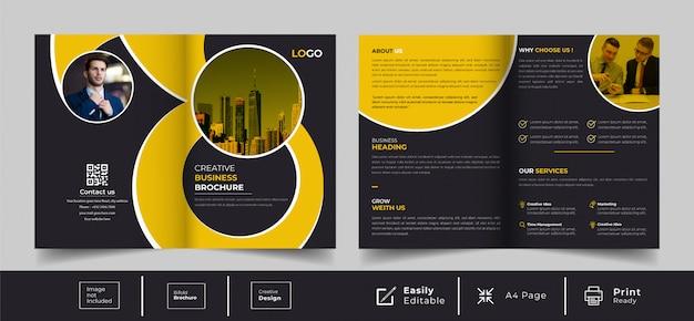 Modèle de conception de brochure créative à deux volets