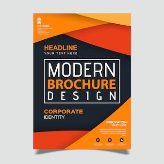 Modèle de conception d'une brochure créative moderne