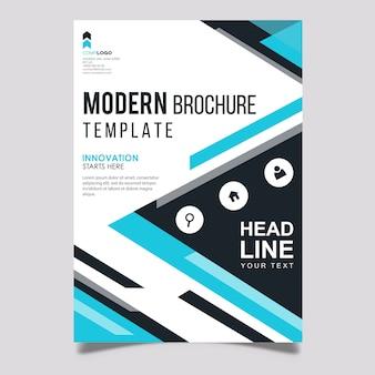 Modèle de conception de brochure créative de vecteur