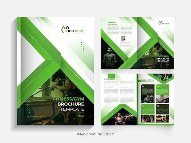Modèle de conception de brochure à deux volets de remise en forme créative