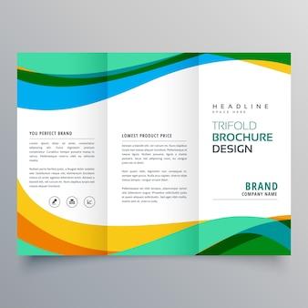 Modèle de conception de brochure d'entreprise créative trifold