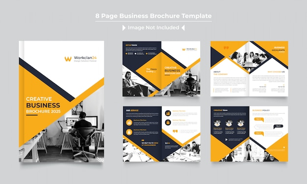 Modèle de conception de brochure d'entreprise pages