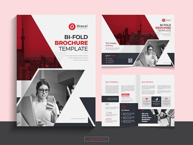 Modèle de conception de brochure d'entreprise propre et pliable en format a4.
