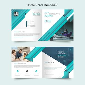 Modèle de conception de brochure d'entreprise square bi-fold