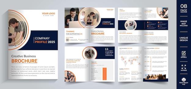 Modèle de conception de brochure d'entreprise vecteur premium