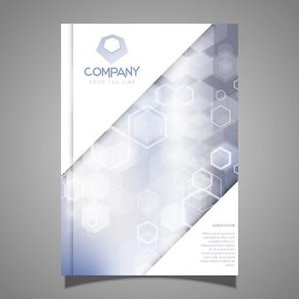 Modèle d'une conception de la brochure de l'entreprise