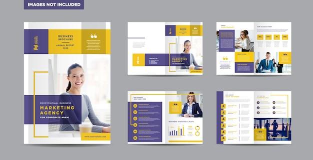 Modèle de conception de brochure d'entreprise