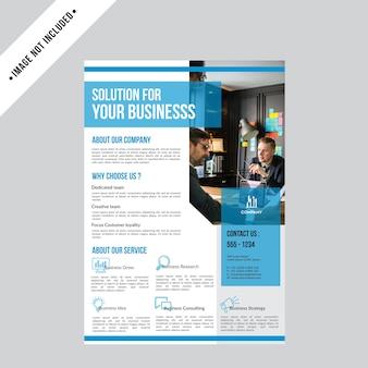 Modèle de conception de brochure flyer création d'entreprise