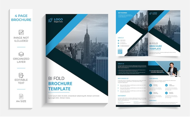 Modèle de conception de brochure professionnelle moderne à deux volets d'entreprise