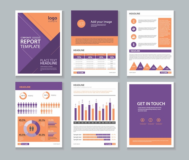 Modèle de conception de brochure de rapport annuel d'entreprise