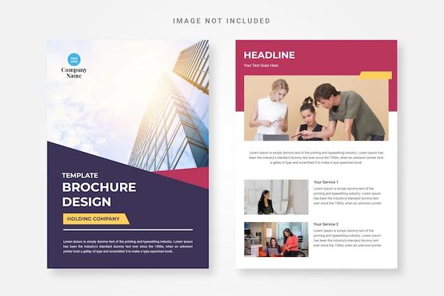 Modèle de conception de brochure de société de portefeuille