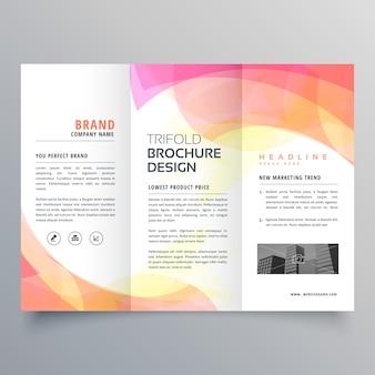 Modèle de conception de brochure à trois volets abstrait coloré