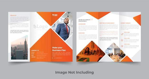 Modèle de conception de brochure à trois volets
